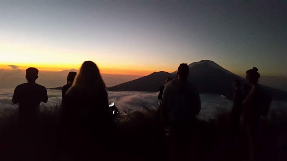 Bali volcano sunrise