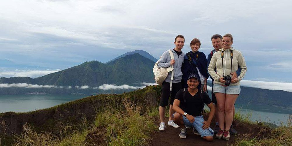 Mt Batur with guide