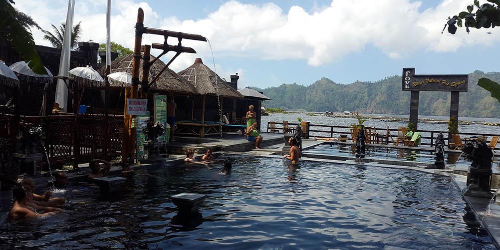 hot springs after volcano trek